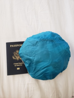 All folded up. Passport for size.